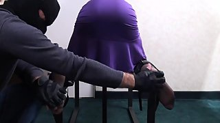 Violetta tickled in nylons (italian model)- tickle intensive