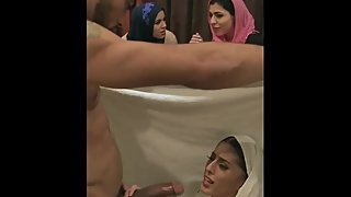Arab wife caught on camera