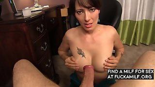 Sensual Handjob and BJ from mom