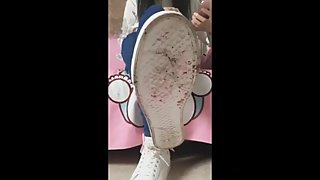Chinese Femdom China queen foot worship POV humiliation shoes lick