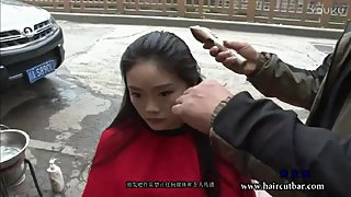 Chinese Girl Headshave