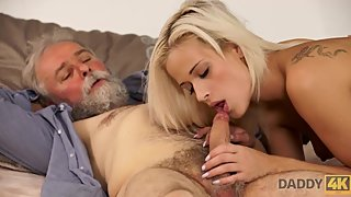 DADDY4K. Old man gave attractive blonde Ria Sun dicking she deserved