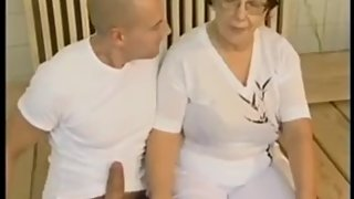 Hot Fat Granny Fucked By Young Man