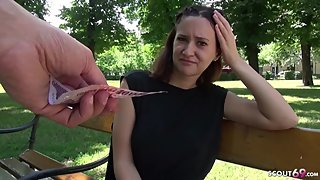 GERMAN SCOUT - SHY SKINNY TEEN GINA TALK TO FUCK AFTER COLLEGE AT MODEL JOB