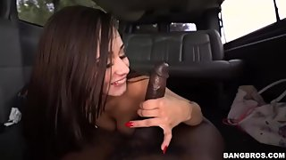 Colombian Big Ass Slut Evie Olson Sucking The Load Up for Money