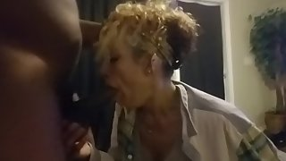 Face fucking unloading in her mouth
