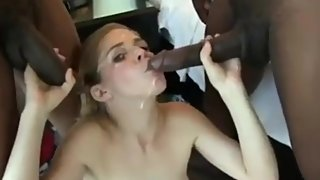 Camel Toe Pussy Teen Penny Fucked By Two BIG BLACK COCKS