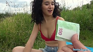 Public Agent Hot tight Spanish pussy fucked outside for cash