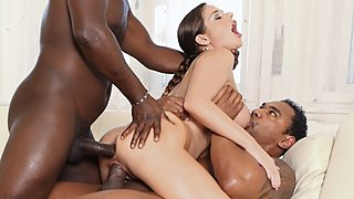 Interracial gangbang milf getting her holes drilled hard and creampied