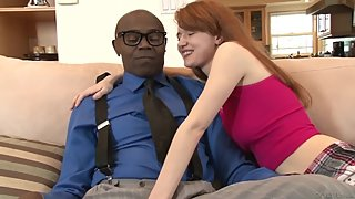 DevilsFilm Stepdad's Monster BBC is What Redhead Daughter Wants