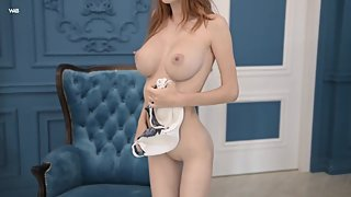 Large boobs and skinny body alluring vixen Helga GrayGoldie Baby