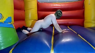 Bouncy Castle pop and fuck the Hole