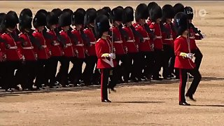 Trooping the Colour 2017 - The British Grenadiers (Copyright BBC)
