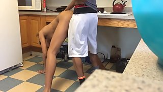 Kitchen Quickie Lesbian Strap On Sex