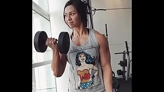 Strong Malaysian girl training compil