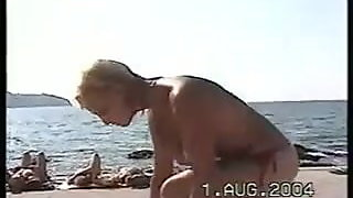 Topless blond from Slovenia 2004