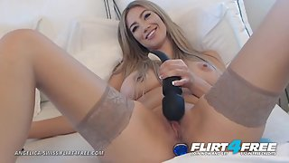 Angelica Swiss on Flirt4Free - Sexy Hot Blonde w Big Beautiful Tits Squirts